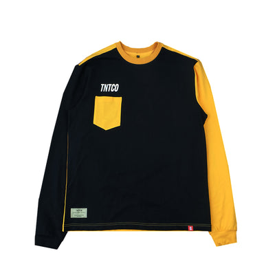 Contrast Long Sleeves Tee Yellow