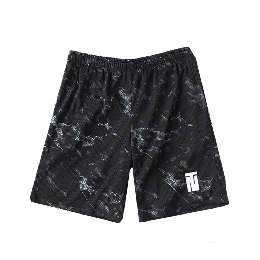 Black Marble Basketball Shorts