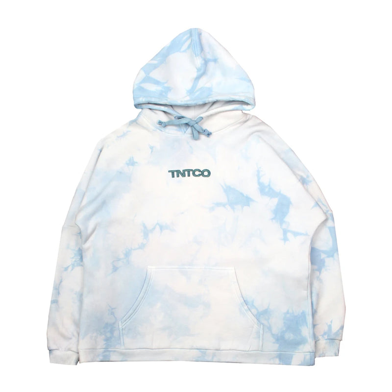 Tie Dyed Logo Hooded Sweatshirt (Blue)
