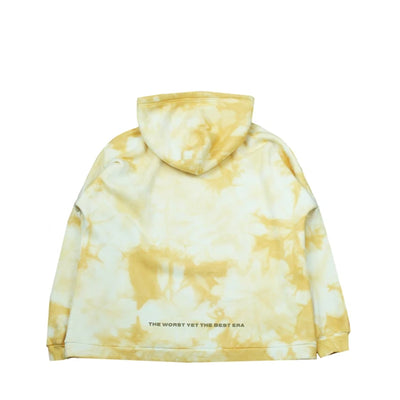 Tie Dyed Logo Hooded Sweatshirt (Yellow)