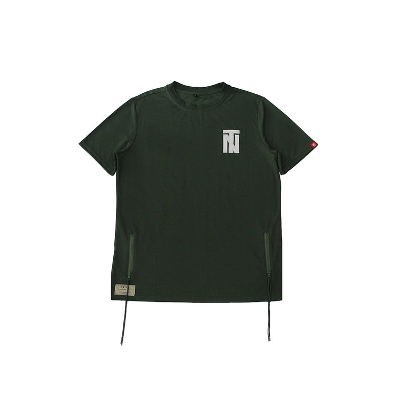 Italic Twill Patch Jersey Olive Green