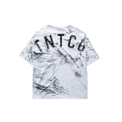 Oversized Marble Tee White