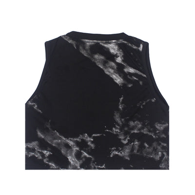Marble Sleeveless Cropped Top
