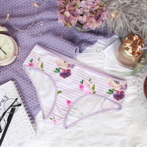 Lace Back Hipster Panties from the 'Thinking Violet' Collection