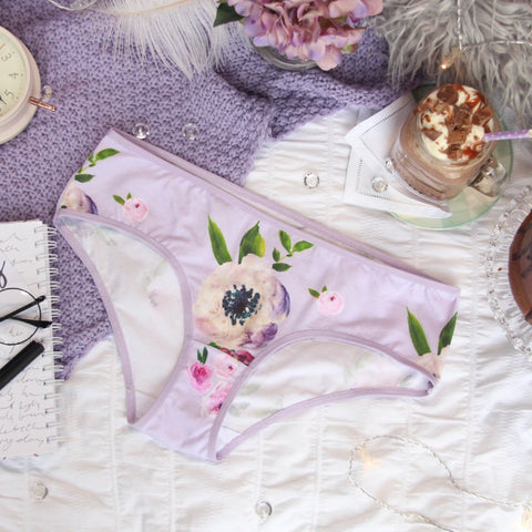 Low Front Purple Soft Bra from the 'Thinking Violet' Collection