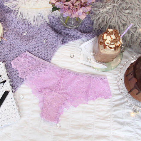 High Waist Lace Cut Out Panties from the 'Thinking Violet' Collection