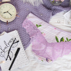 Lace Panelled Hipster Panties from the 'Thinking Violet' Collection