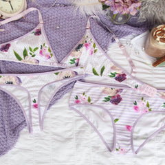Polka Dot Thong from the 'Thinking Violet' Collection