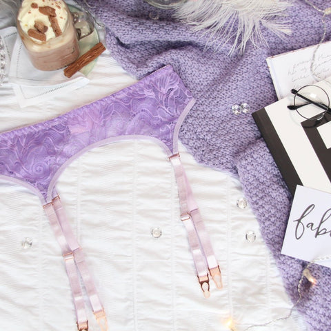 Purple 'Scarlett' Strap Harness