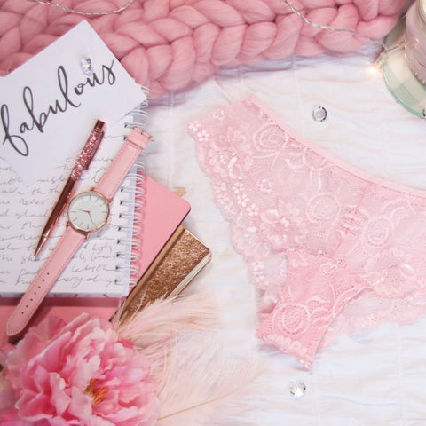 Lace Panelled Panties from the 'Blossoms Up' Collection