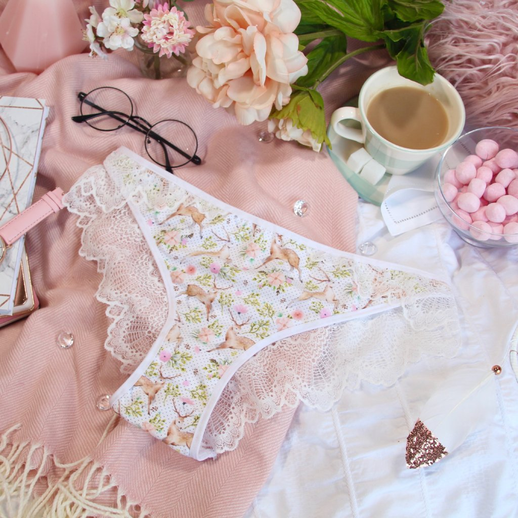 Lacy Back Cross Over Panties from the 'Deer To My Heart' Collection