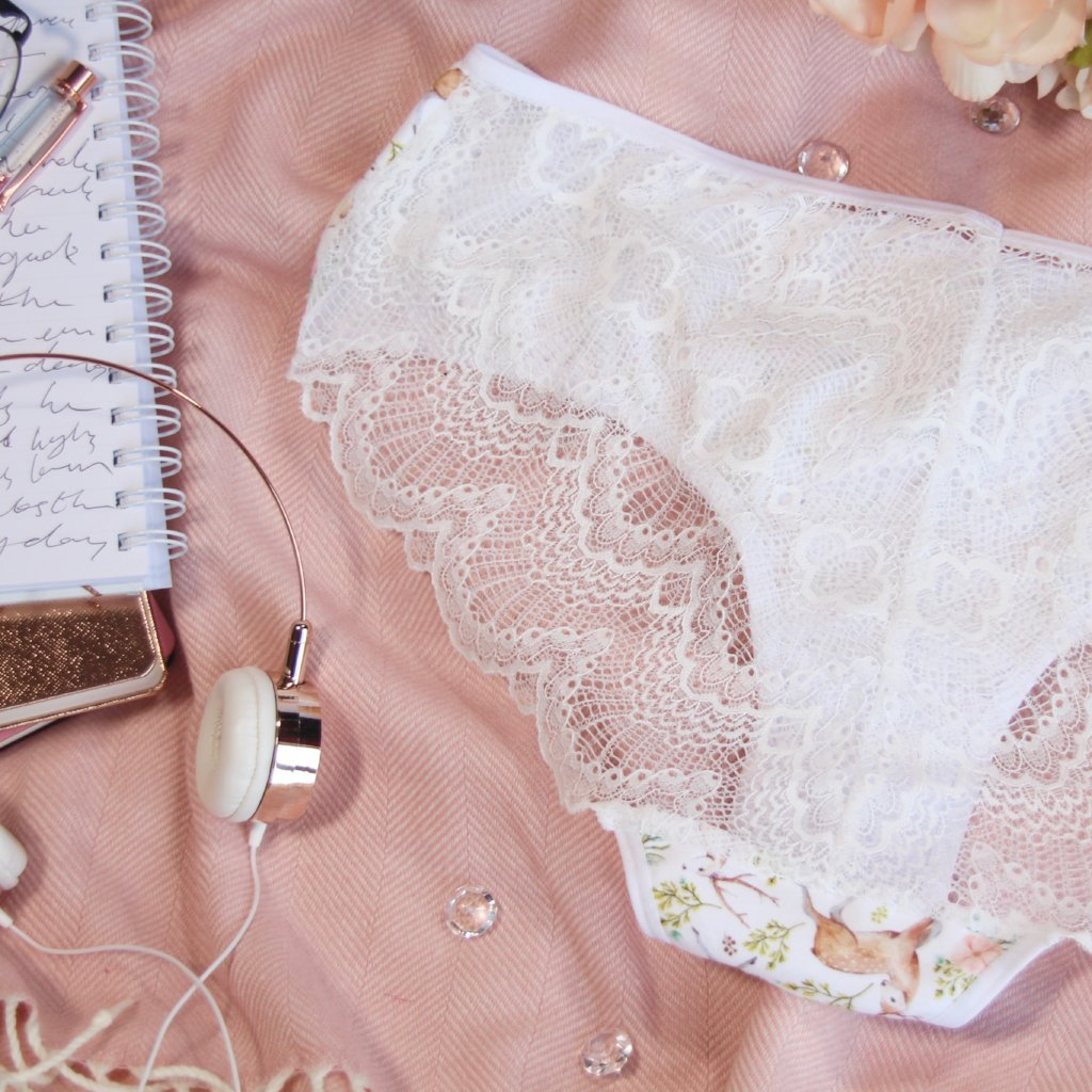 Lace Back Hipsters from the 'Deer To My Heart' Collection