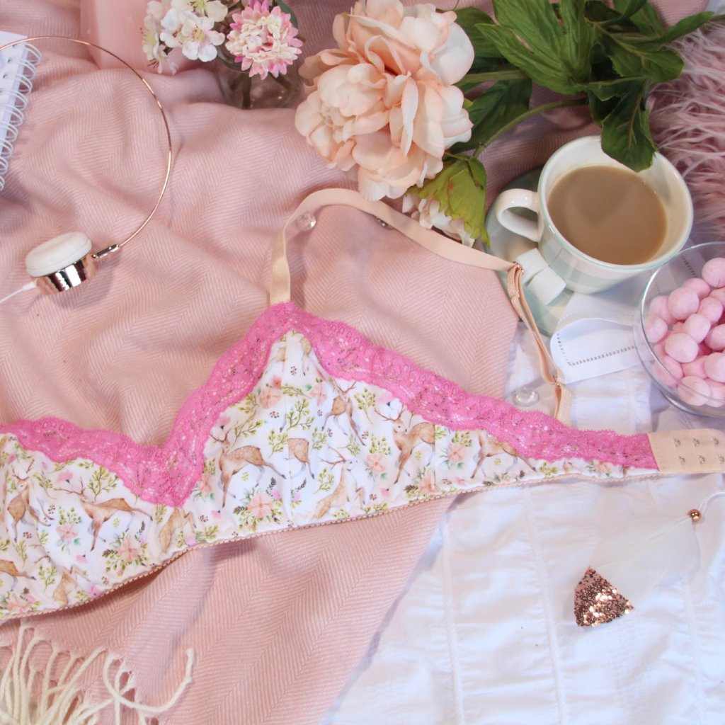 Pink Lace Trim Soft Bra from the 'Deer To My Heart' Collection