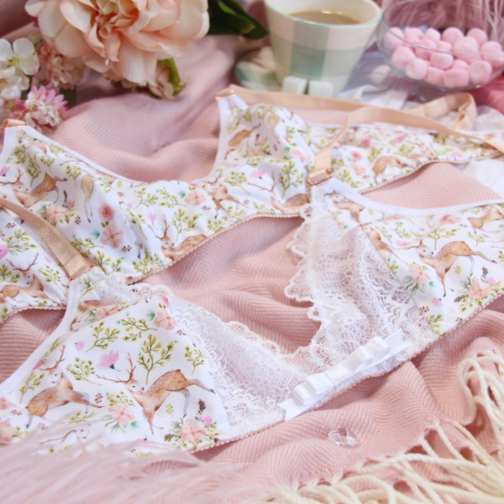 Lacy Low Front Soft Bra from the 'Deer To My Heart' Collection