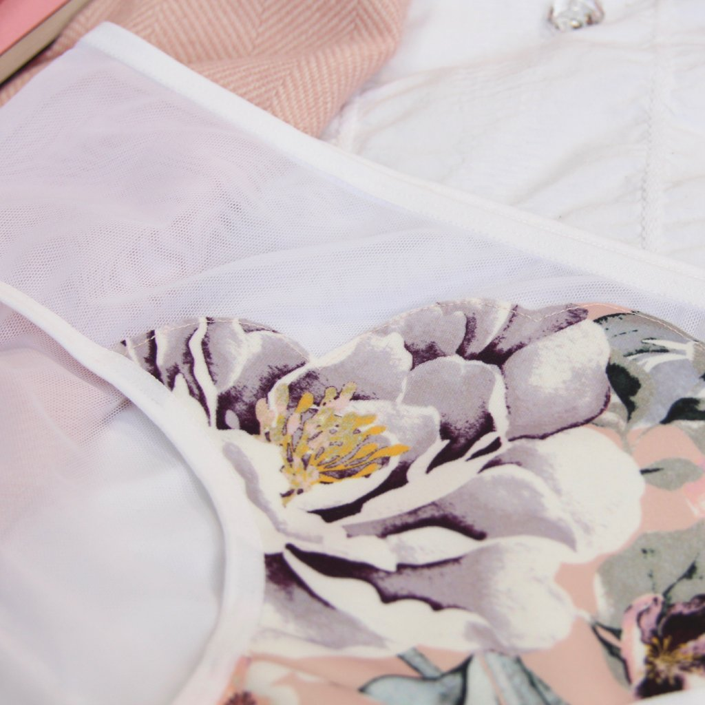 Scalloped Hipster Panties from the 'You Make My heart Go Bloom' Collection