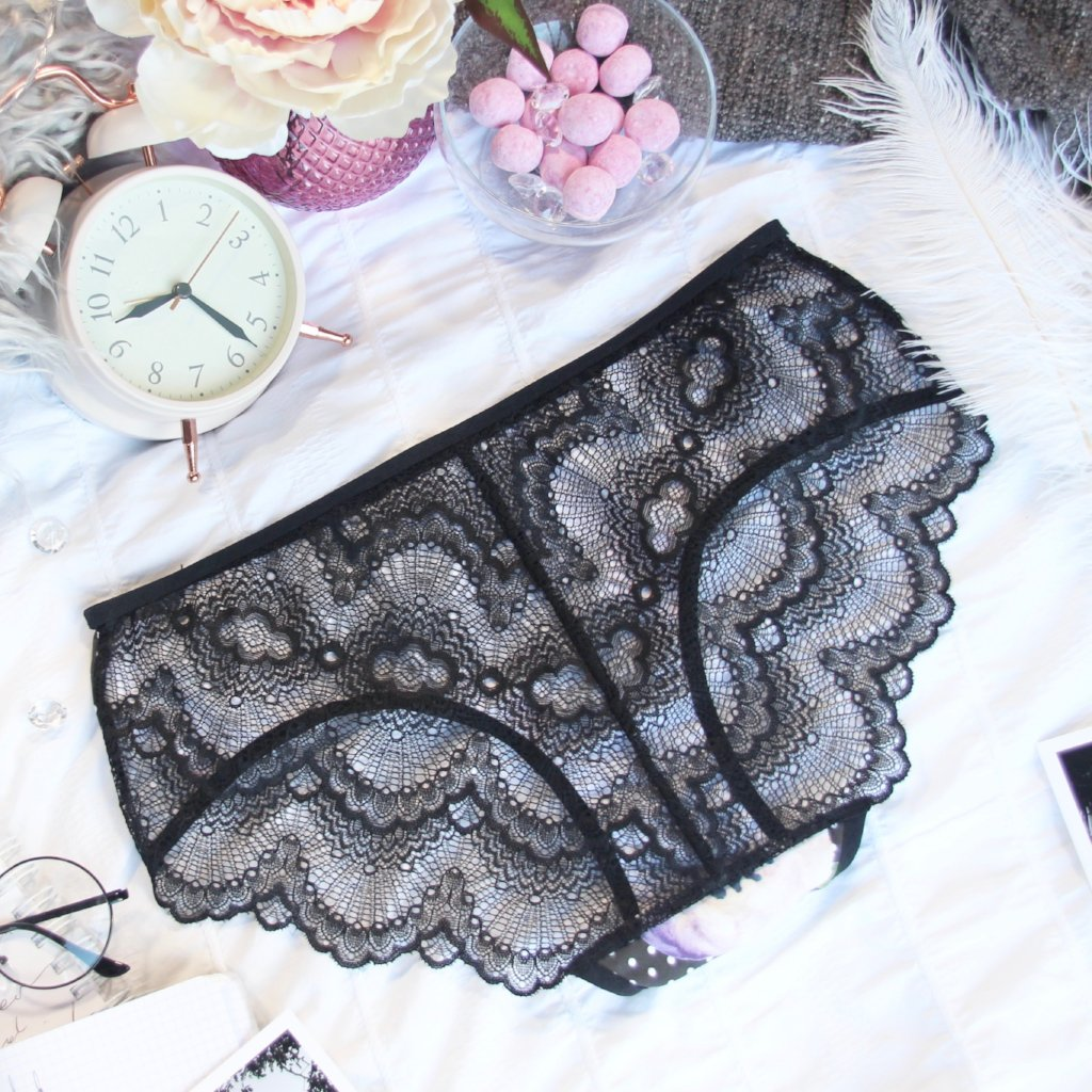 Lace Back Hipster Panties from the 'Petal To The Metal' Collection