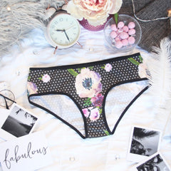 Polka Dot Hipster Panties from the 'Petal To The Metal' Collection
