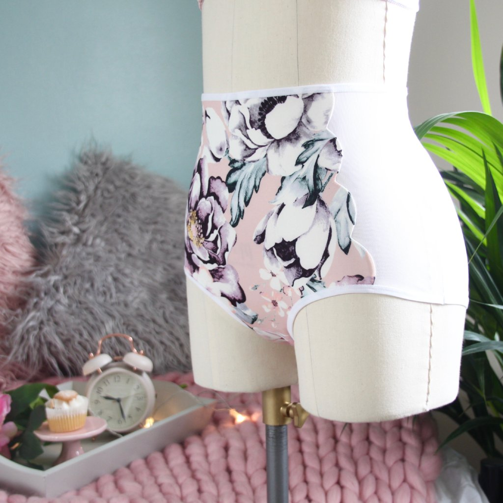 Scalloped High Waist Panties from the 'You Make My Heart Go Bloom' Collection