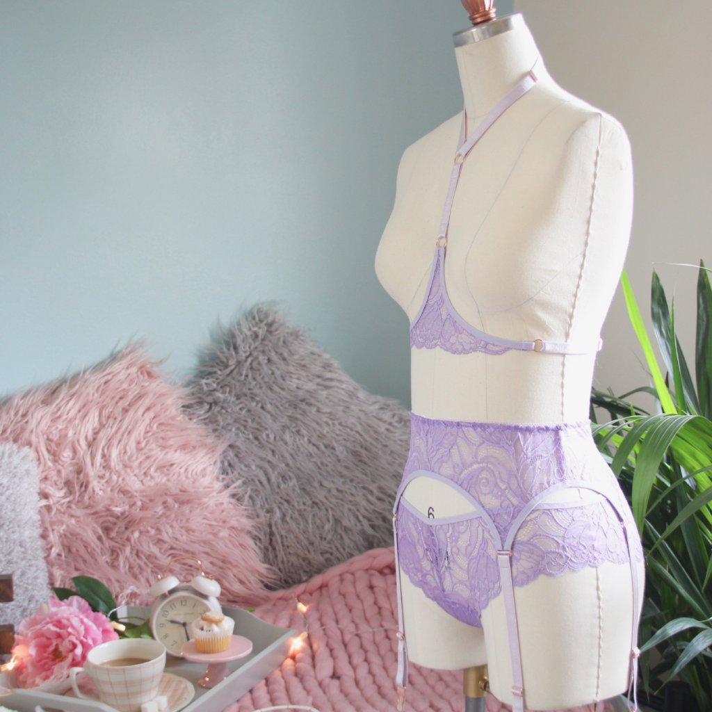 Lace Suspender/Garter Belt from the 'Shake Your Blossom' Collection