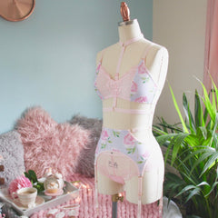 Cut Out Strappy Suspender/Garter Belt from the 'Blossoms Up' Collection