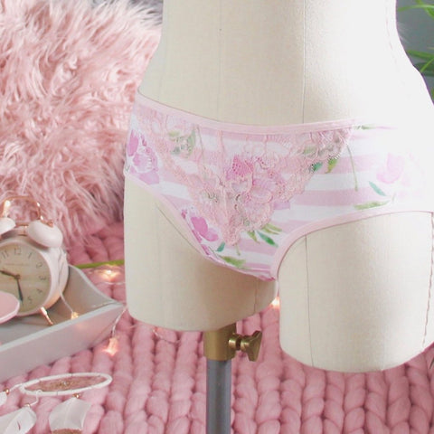 High Leg Lace Trim Panties from the 'Blossoms Up' Collection