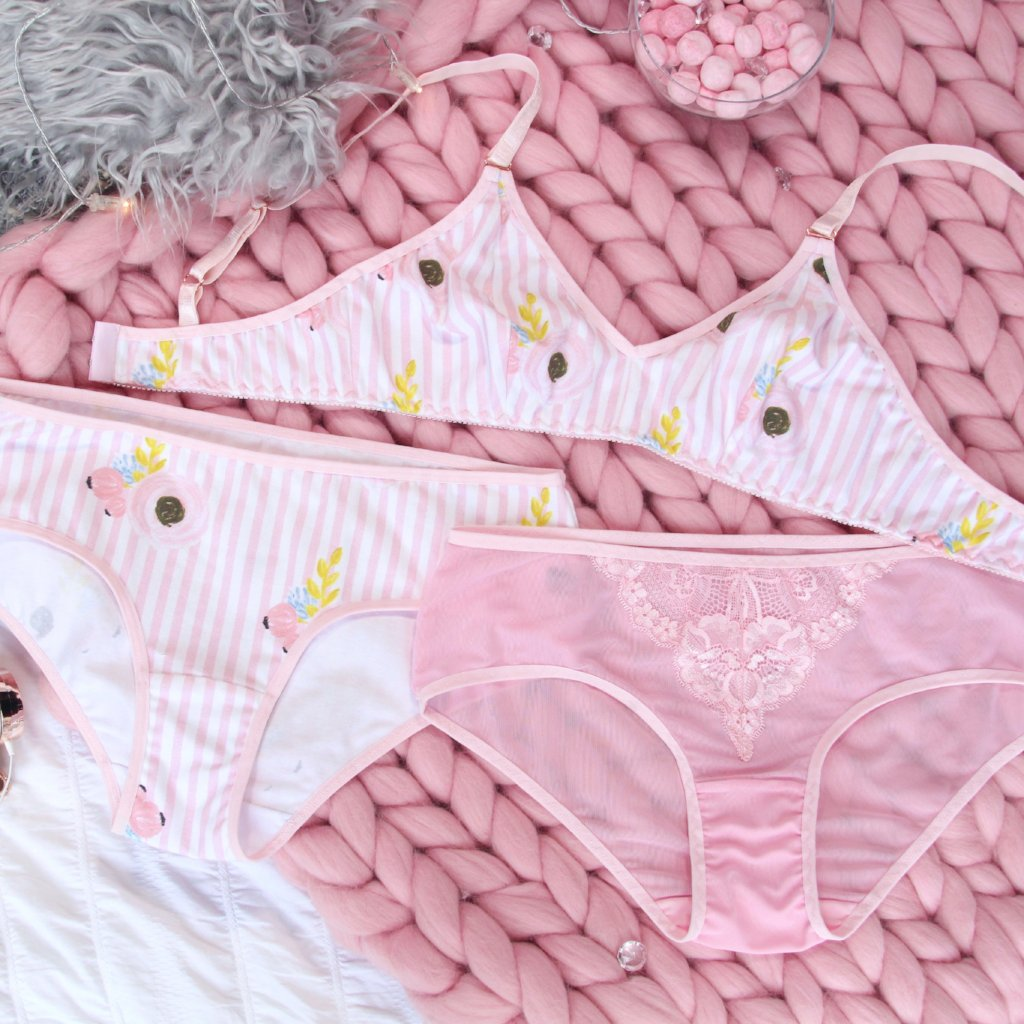 Pink Striped Hipster Panties from the 'Let Them Eat Candy' Collection