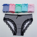 Solid Pattern 5 Pcs Women's Cotton Panties