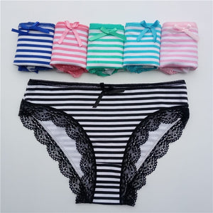 Solid Pattern 5 Pcs Women's Cotton Panties - FEUZY