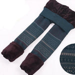 Warm Knitted Winter High Waist Velvet Leggings - FEUZY