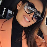 Luxury Designer Square Oversized Sunglasses for Women UV400