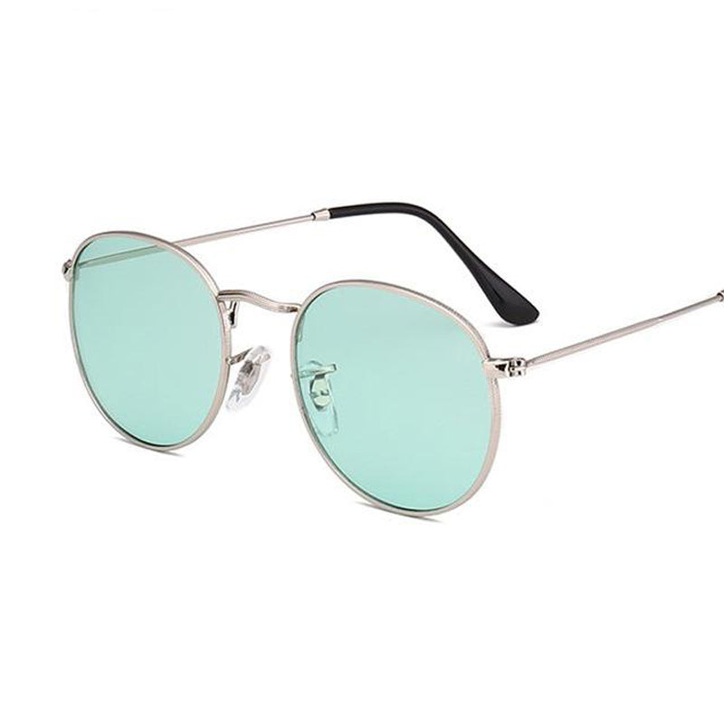 Designer Transparent Sunglasses with Classic Metal Frame 42MM F5102 - FEUZY