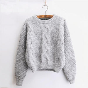 Warm Pullover Knitted Sweaters for Women - FEUZY
