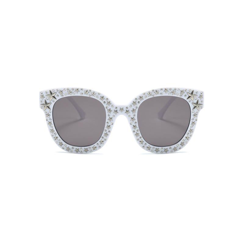 Luxury Square Shaped Crystal Star Deco Women Sunglasses
