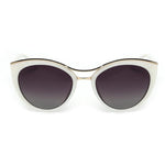 Stylish Cat Eye Sunglasses for Women with Aluminium Frame - FEUZY