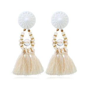 Drop Dangle Fringe Tassel Earrings - FEUZY