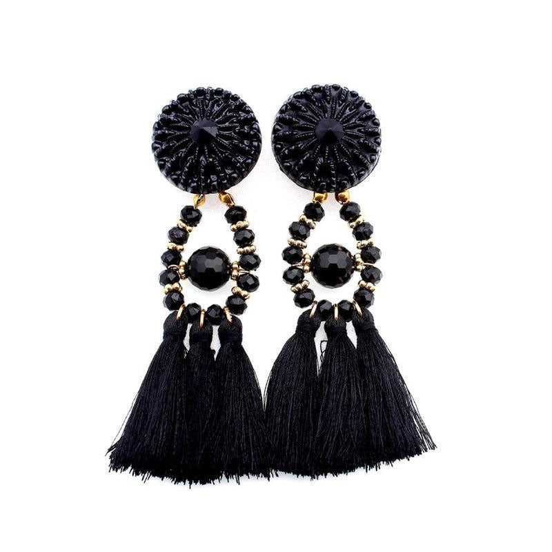 Drop Dangle Fringe Tassel Earrings