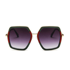 Square Oversized Designer Sunglasses UV400 - F5110 - FEUZY