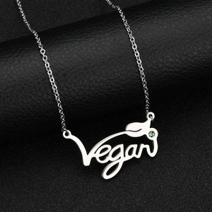 Silver/Gold/Rose Plated Vegan Necklace Pendant