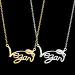 Silver/Gold/Rose Plated Vegan Necklace Pendant - FEUZY