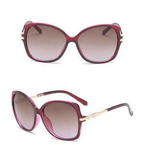 Pearl Crystal Cat Eye Sunglasses for Women 58MM - FEUZY