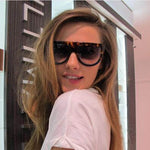 Flat Top Style Fashion Sunglasses for Women UV400 - F5111 - FEUZY