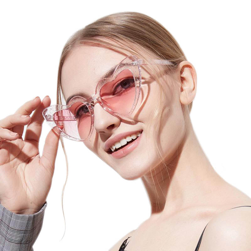 Heart Shaped Cat Eye Sunglasses for Women - FEUZY