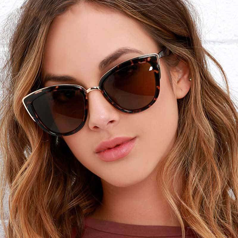 UV400 Designer Cat Eye Vintage Sunglasses for Women F5108 - FEUZY