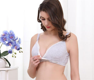 Wirefree Cotton Nursing Maternity Bra - Breastfeeding/Pregnant Women Bra