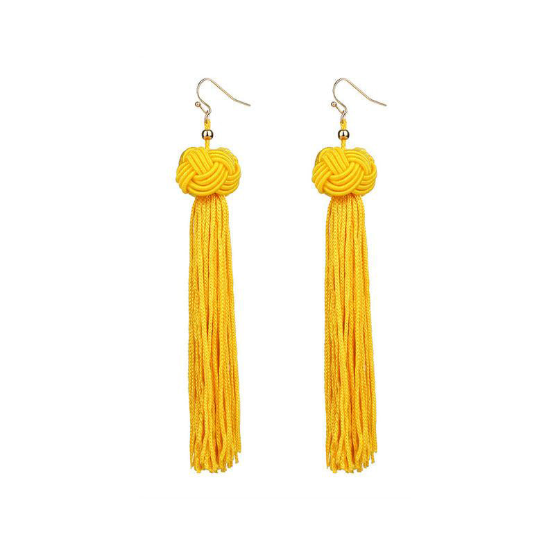 Trendy Handmade Long Tassel Earrings For Women - FEUZY