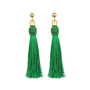 Trendy Handmade Long Tassel Earrings For Women