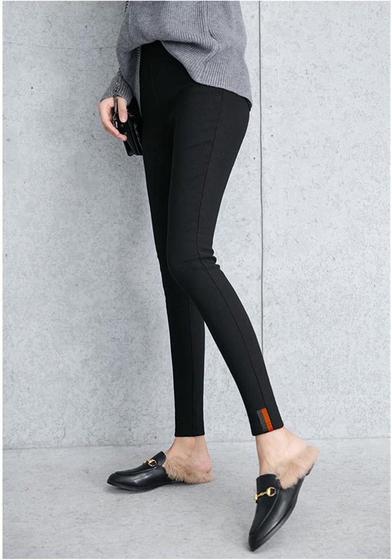 Thick Velvet Warm Fitness Winter Leggings for Women - FEUZY
