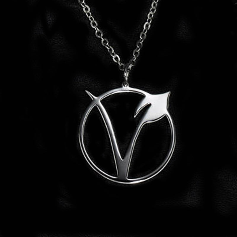 Vegetarian Symbol Pendant Necklace - Veganism Sign Jewelry