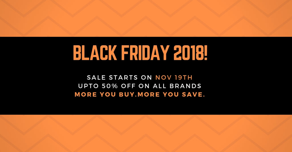 Bold Black and Yellow Facebook Ad 1024x1024 - Black Friday 2018