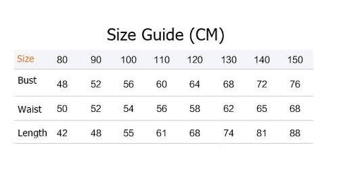 Girly Shop I Size Guide Made To Order Flower Girl Dress